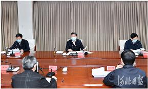 王东峰在河北省群众工作中心约访解决包联信访积案